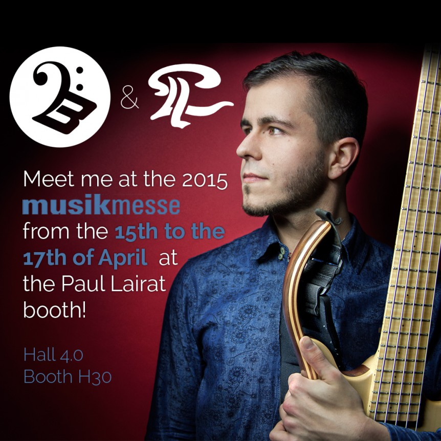Christopher Bolte @ the 2015 Musikmesse