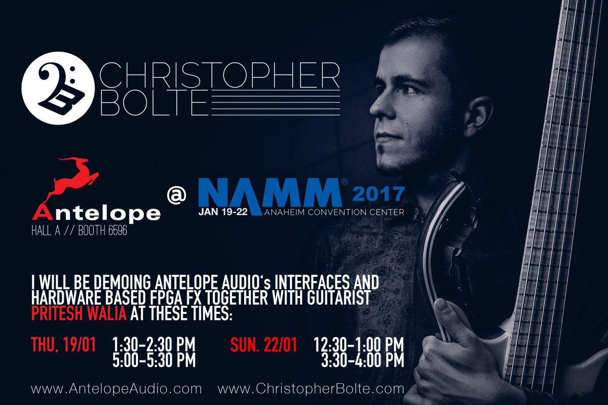 Christopher Bolte & Antelope Audio @ NAMM 2017