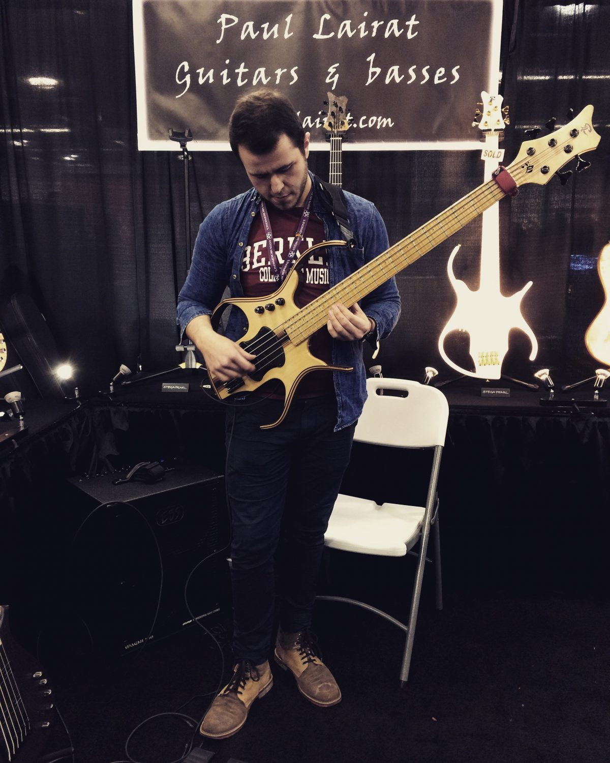 Jamming at the Paul Lairat Booth