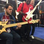 Jamming at the Paul Lairat Booth and being photobombed by Robert Harper and Paul Himself ;)